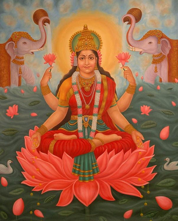 Lakshmi -Indian goddess of light and consort to Lord Khrisna