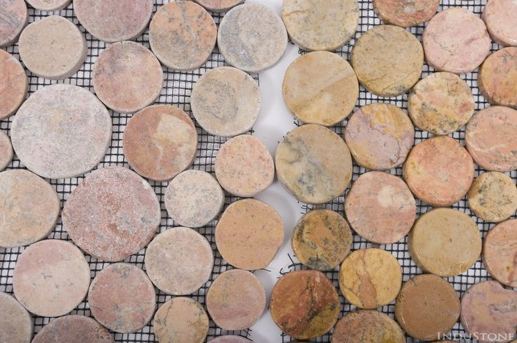 COIN MOCHI INTERLOCK CIĘTE OTOCZAKI mozaika kamienna na siatce INDUSTONE