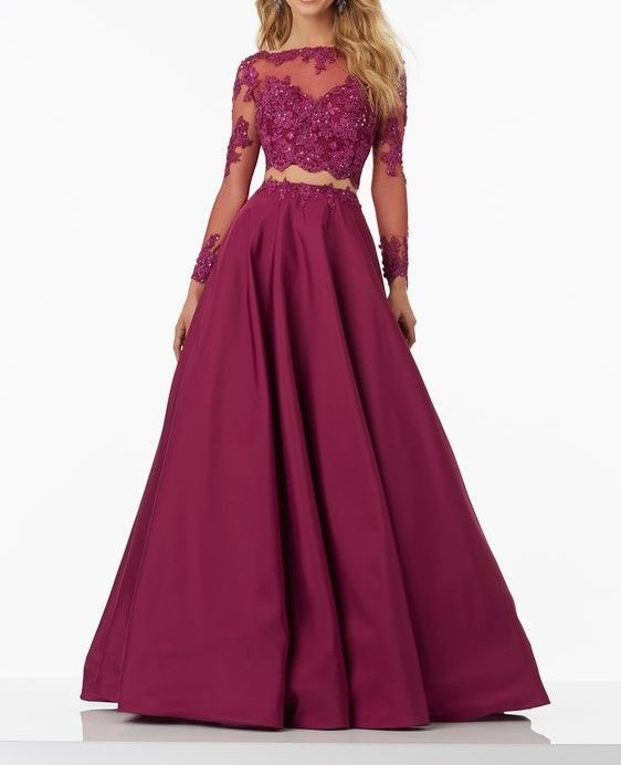 Modest Prom Dress,Lace Prom Dress,Long Sleeves Prom Dresses,Lace Prom Dress,Burgundy Prom Dress