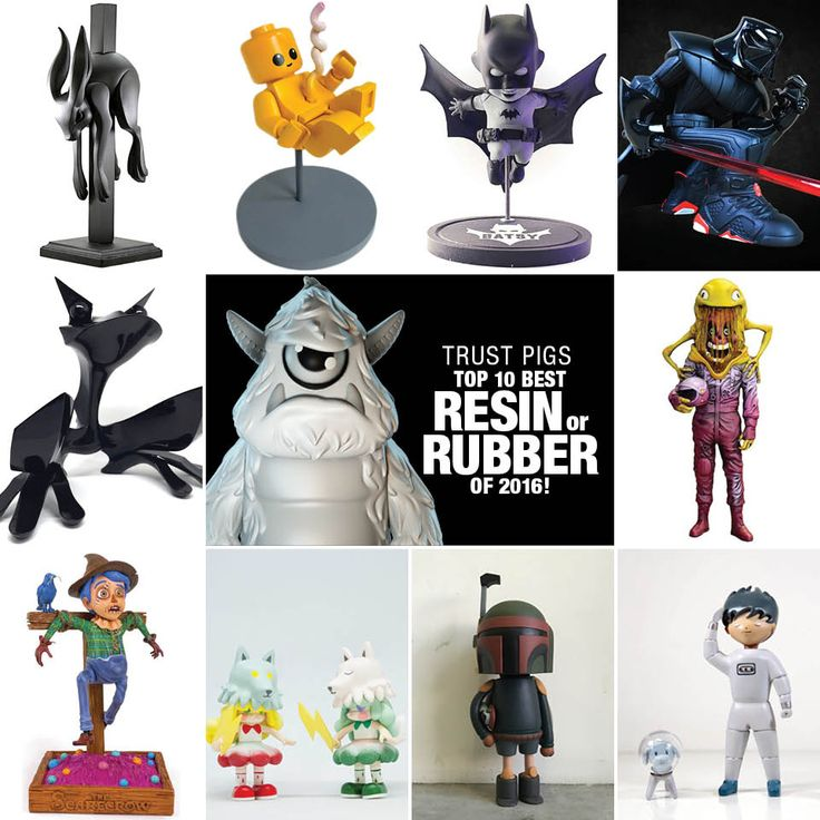 SpankyStokes.com | Vinyl Toys, Art, Culture, & Everything Inbetween: Trust Pigs's Top 10 Best Resin Releases of 2016!
