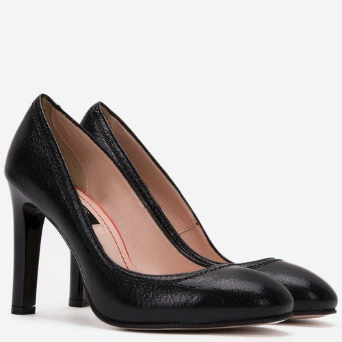 Pantofi din piele naturala negri Petronela