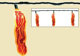 Bacon string lights!: Weird Things, String Lights, Cubicle, Bacon String, Be Awesome