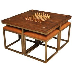 Midcentury Game Tables by Sarreid Ltd