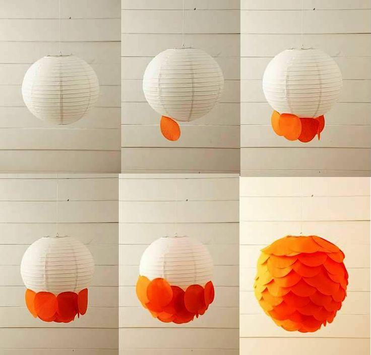 . . . . . . . . . . . . El detalle que hace la diferencia: Lamparas de papel (pantallas) para decoración: