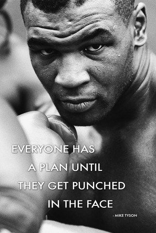 Mike Tyson Quote poster 24 x 36