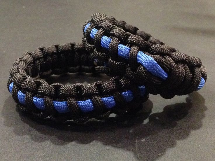 Excited to offer Free Shipping for Thin Blue Line Fitbit Flex, Flex 2, One, or Garmin Vivofit 3 Paracord Replacement Band Bracelet or Anklet http://etsy.me/2D54sqk #accessories #fitbit #flex #one #paracord #bracelet #military #police #thinblueline
