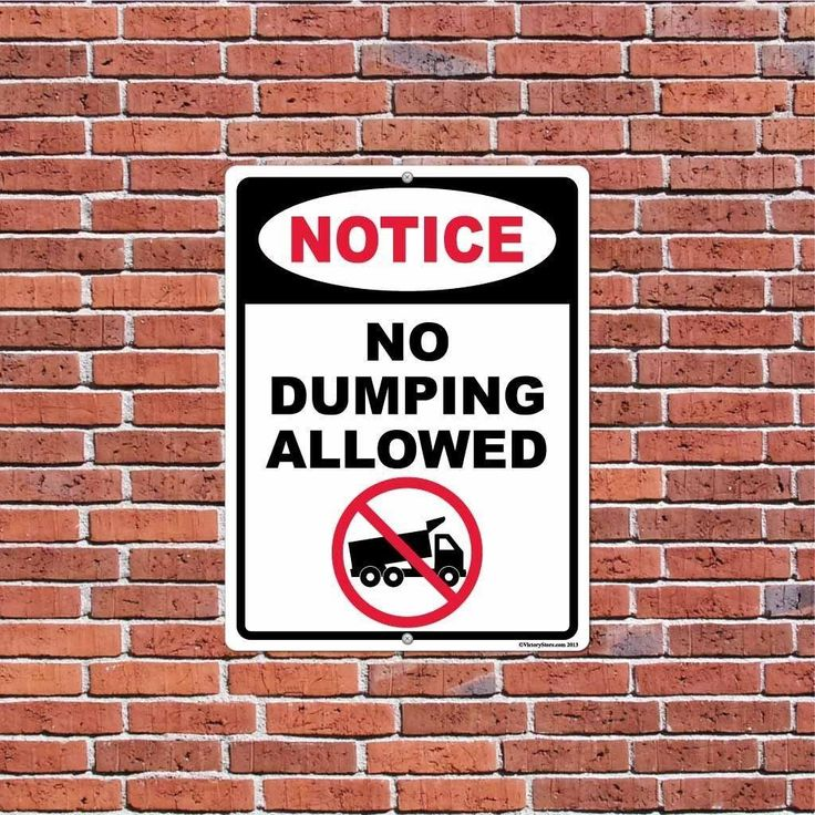 No Dumping Allowed Sign or Sticker - #1