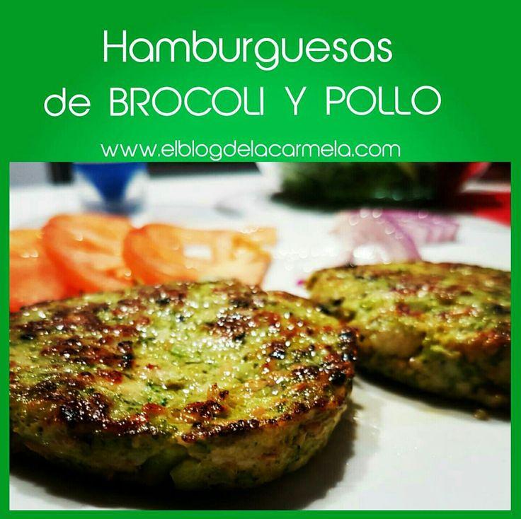 Hamburguesas de brocoli y pollo