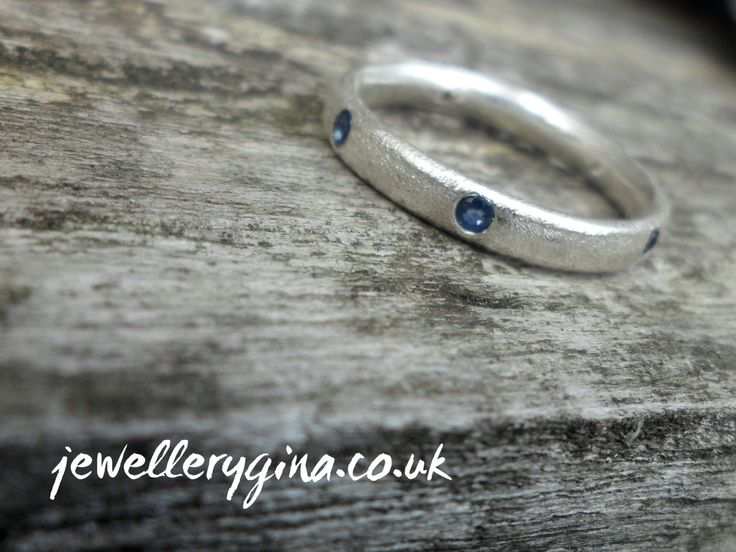 Sapphire Eternity Frosted Band by JewelleryGina on Etsy,