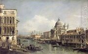 Entrance to the Grand Canal, Venice  by Bernardo Bellotto (Canaletto)