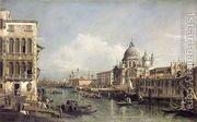 Entrance to the Grand Canal, Venice  by Bernardo Bellotto (Canaletto)