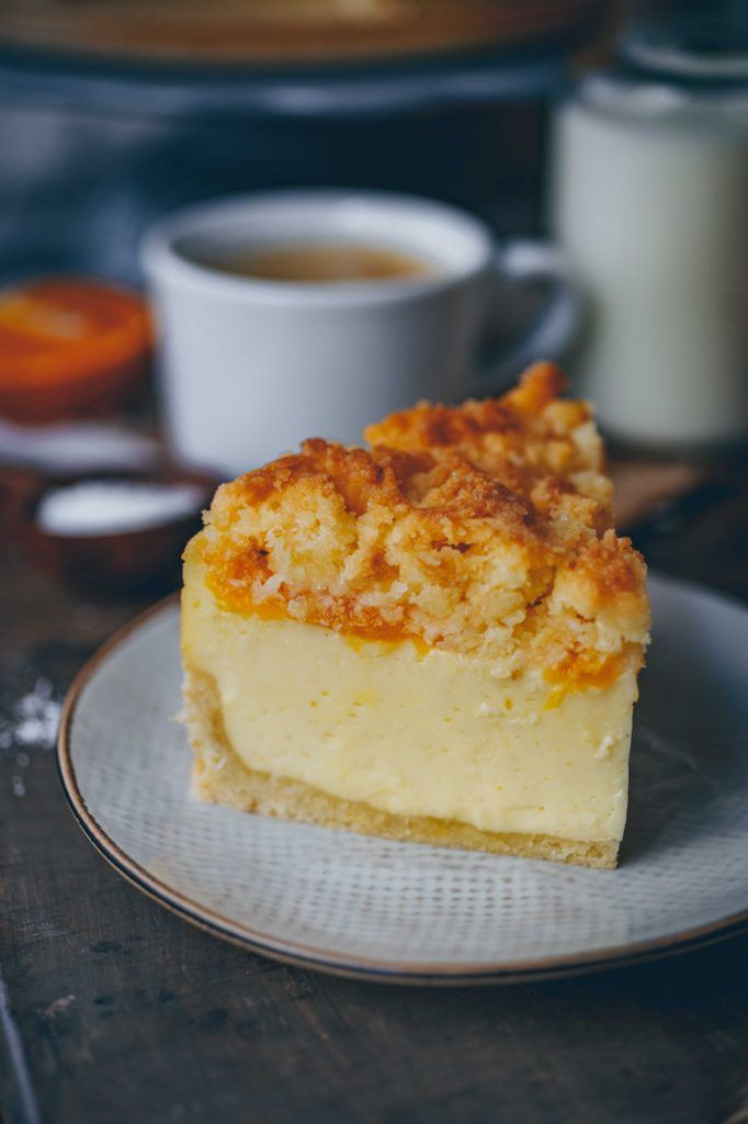 Tangerine Sour Cream Cake With Coconut Crumbles Klara S Life Sour Cream Cake Sweets Recipes Cake Servings