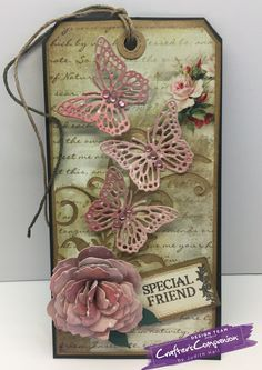 Tag made using Sara Signature Shabby Chic collection – Designed by Judith Hall. #crafterscompanion