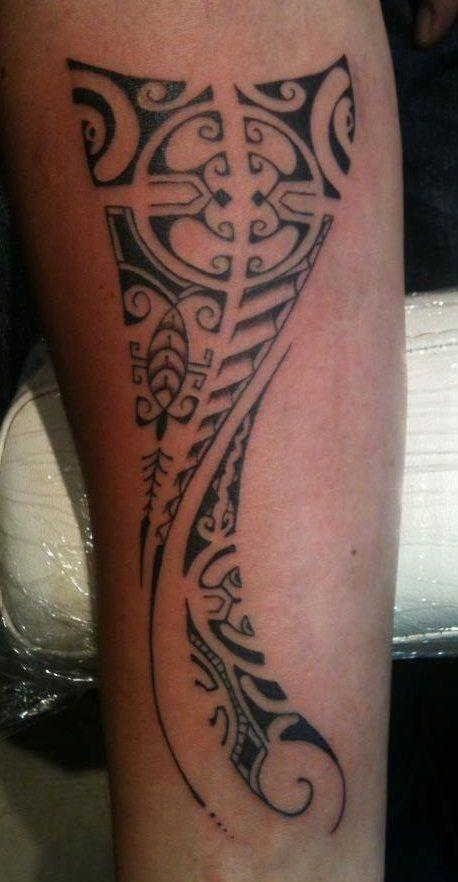 Maori Forearm on Man by Edwin Waterman