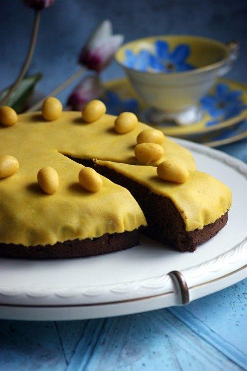 Simnel torta (húsvéti marcipános torta) recept