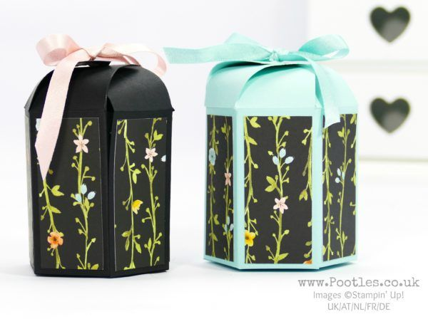 Stampin' Up! Demonstrator Pootles - Whole Lot of Lovely Hexagonal Box with Cute Close Top