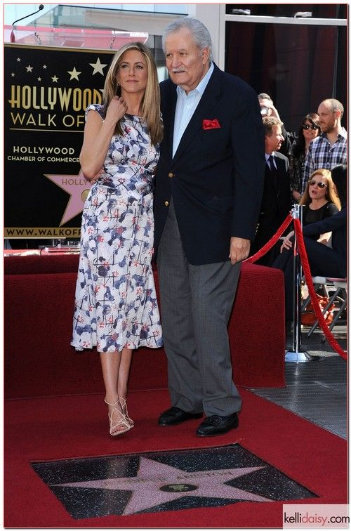 Jennifer Aniston and father  Victor Kiriakis at her Hollywood star
