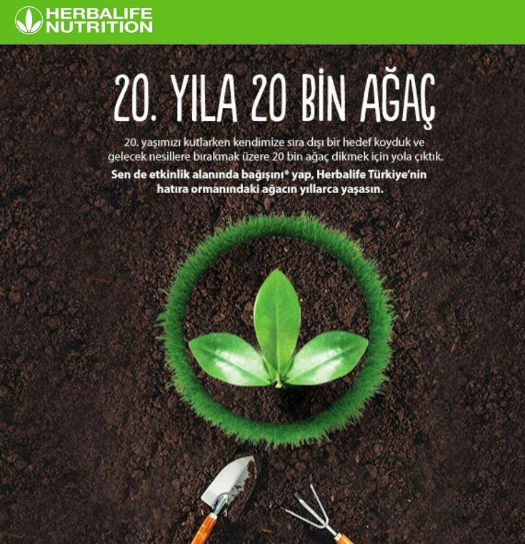 Herbalife Türkiye 20. Yaşında 20 Bin Ağaç dikerek gelecek nesillere hediye etmek için yola çıktı.  www.idealbeslen.com 0536 612 9009 whatsapp #hedef #hayal #doğru #ağaç #gelecek #nesil #temiz #doğa #oksijen