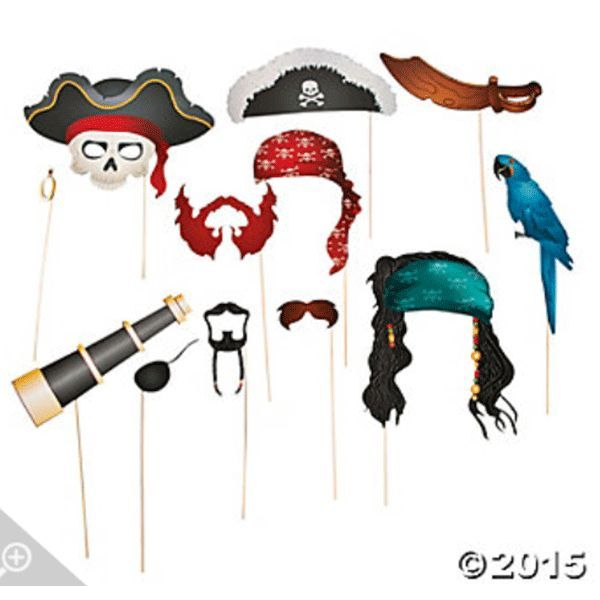Guests find themselves on stranger tides at your pirate-themed birthday or Halloween party with these picture accessories. Guest can strike a swashbuckling pose with our Pirates Photo Booth Props in h