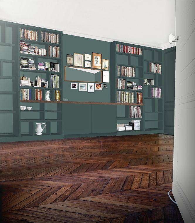 17 best Bibliothèque images on Pinterest Libraries, Living room - Comment Decorer Un Grand Mur