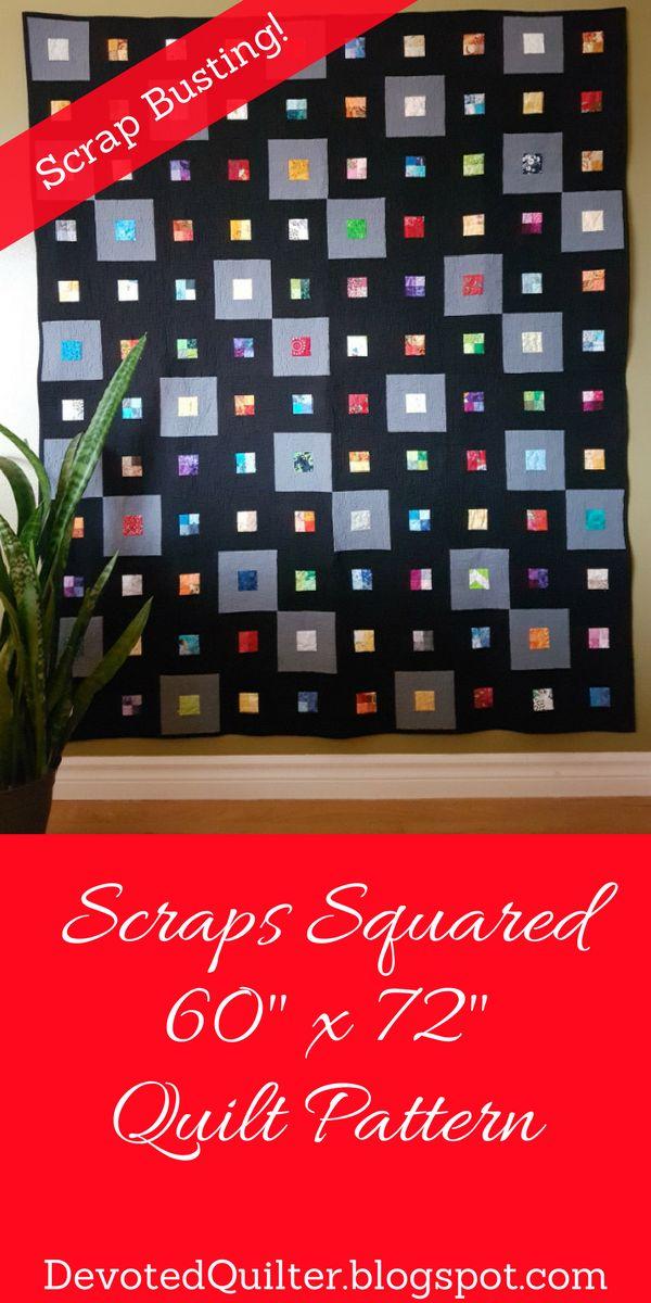 Scraps Squared quilt pattern | DevotedQuilter.blogspot.com