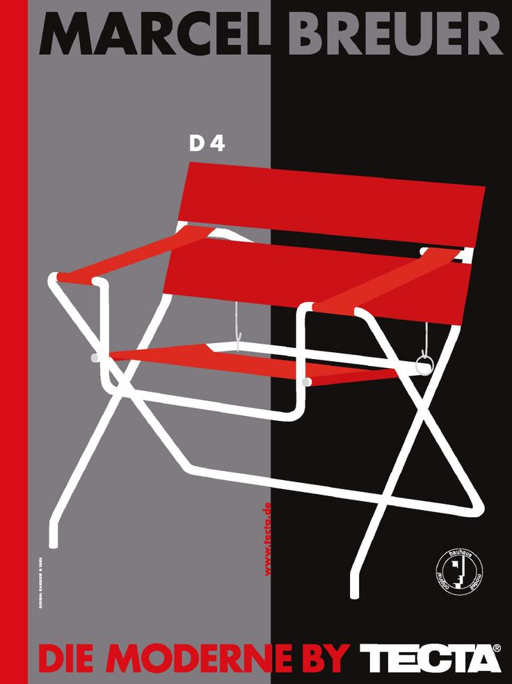 Marcel Breuer D4, TECTA poster | Gunter Rambow (2008)