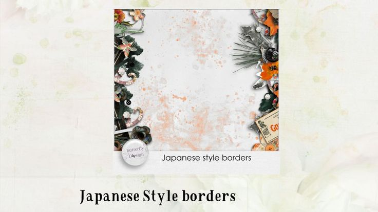 Japanese Style Borders by butterflyDsign