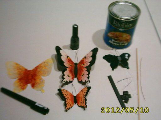 mariposas de acetato para imanes