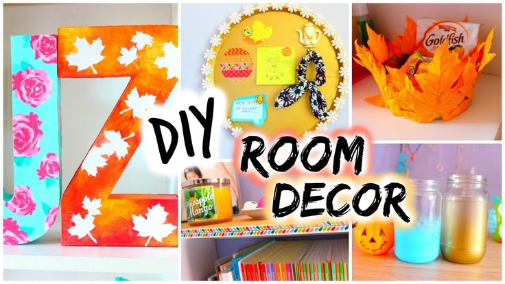 DIY: Room Decor for Fall. Learn how to make pop-out cardboard letters for wall art, maple leaf mason jars, and other easy projects to spice up your room.