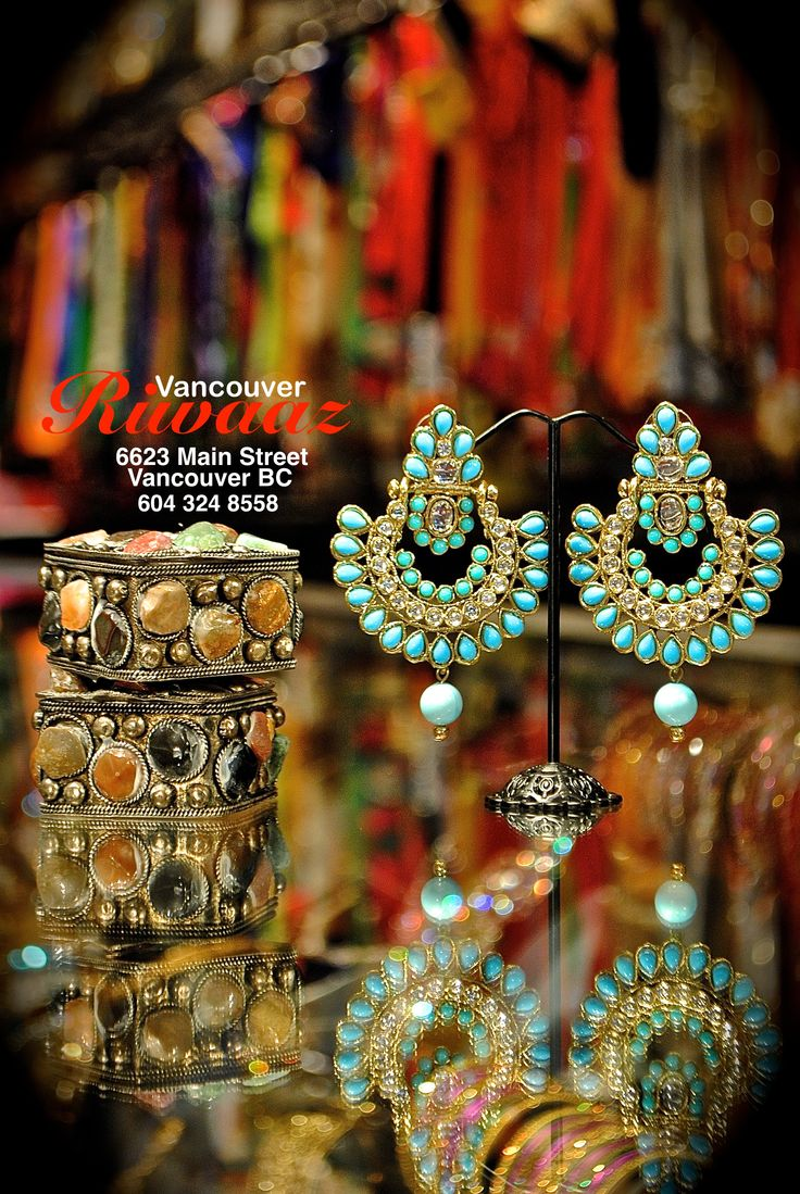 Earrings, Riwaaz Vancouver, Indian jewelry https://www.facebook.com/riwaazvancouver