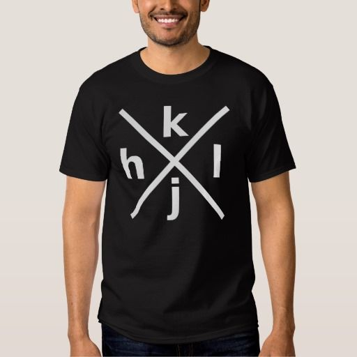 hjkl for Hardcore Vi/Vim Hackers - Black T-Shirt