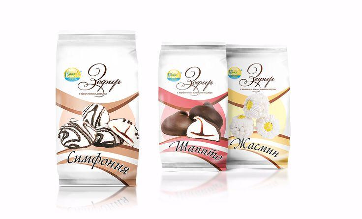 Дизайн упаковки для серии зефира