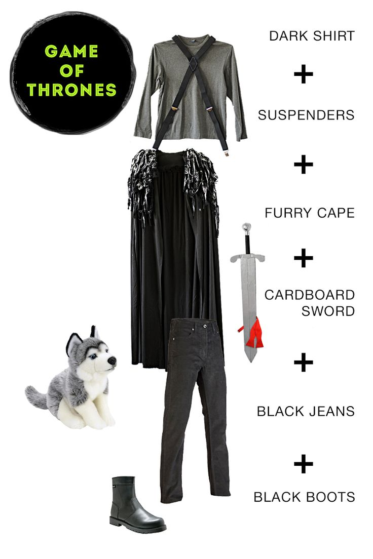 "One black cape equals two awesome costumes. With the wave of a magic wand, turn your magician costume into the ""Game of Thrones"" hero, Jon Snow."