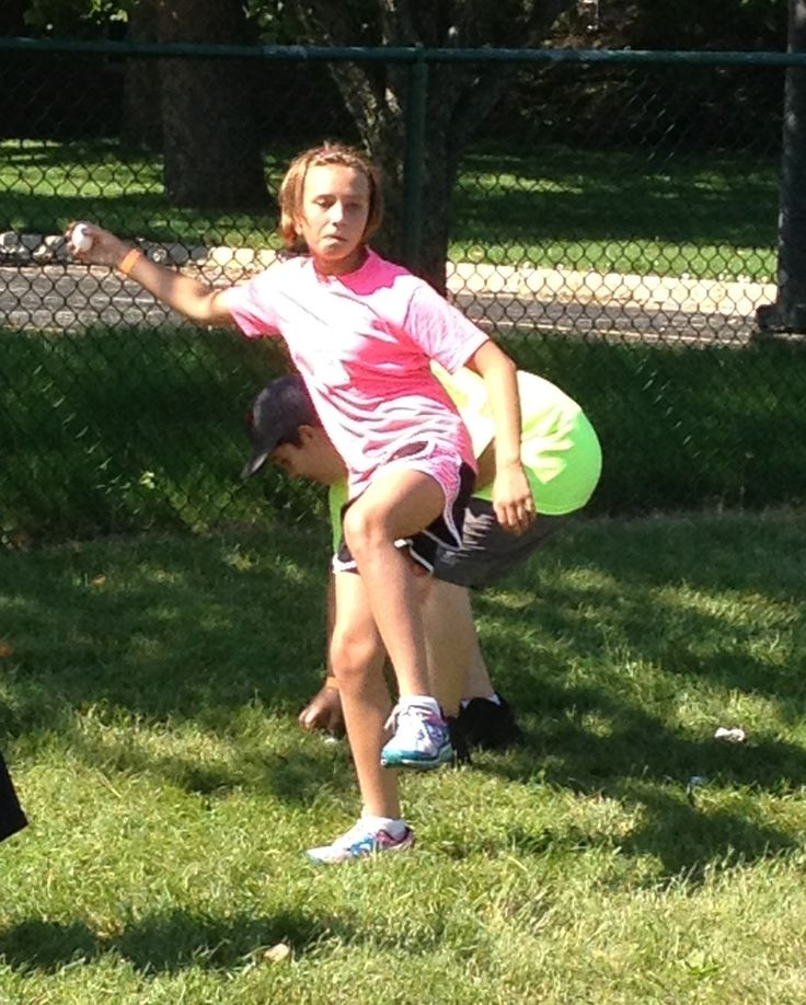 Alicia doing an egg toss at the 3DPC Field Day hosted by The Gray Institute!