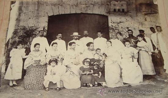 ANTIGUA Y ORIGINAL FOTOGRAFIA ALBUMINA DE FILIPINAS - EL MEDICO D. SEBASTIAN SANCHEZ PALOMARES (CON (Fotografía Antigua - Albúmina)