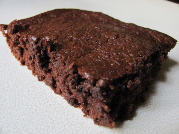 Brownies   Changes made: Doubled the recipe. Added 1.5 c sugar. Added .75 c oil.