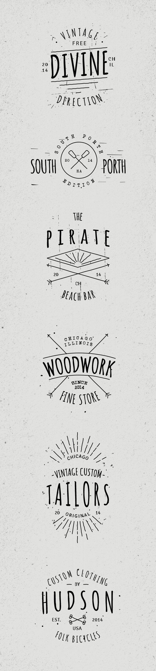 Check out this mix of 6 hand drawn vintage badges created by Vlad Cristea. Use this collection to create beautiful...