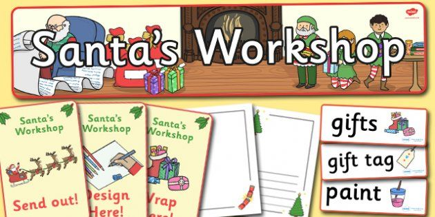Santa's Workshop Role Play Pack - Christmas, role play pack, Grotto, workshop, elf, elves, Santa, Father Christmas, display banner, tree, advent, nativity, santa, father christmas, Jesus, tree, stocking, present, activity, cracker, angel, snowman, ad
