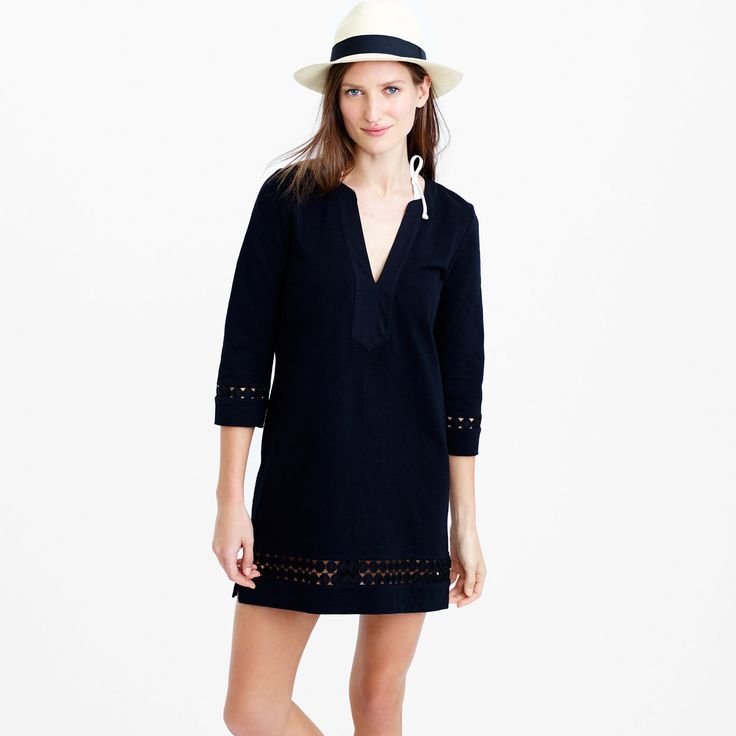 Cotton embroidered tunic : beach cover-ups | J.Crew