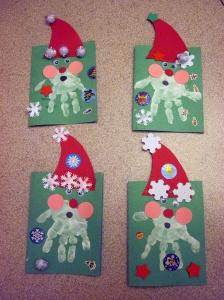 10-12-01 - Hand Print Santa Cards 02