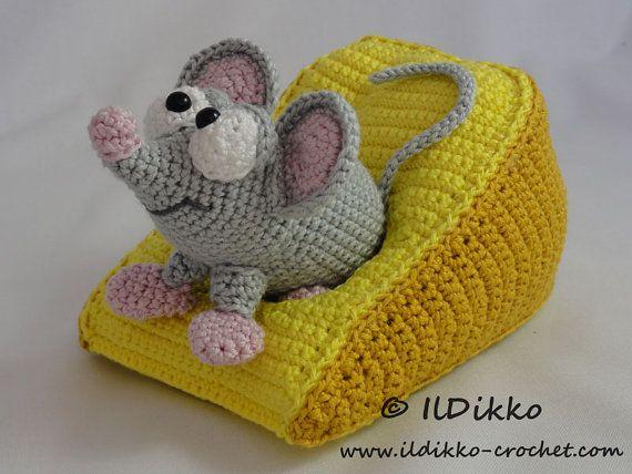 Manfred die Maus mit Käse häkeln