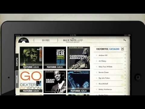The Blue Note App by Groovebug