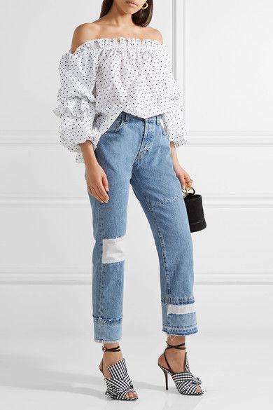 Current/Elliott - The Diy Patchwork High-rise Straight-leg Jeans - Blue