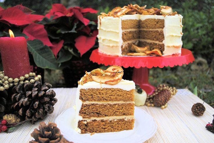 un pedacito de cielo: Layer Cake de Manzana y Caramelo Salado