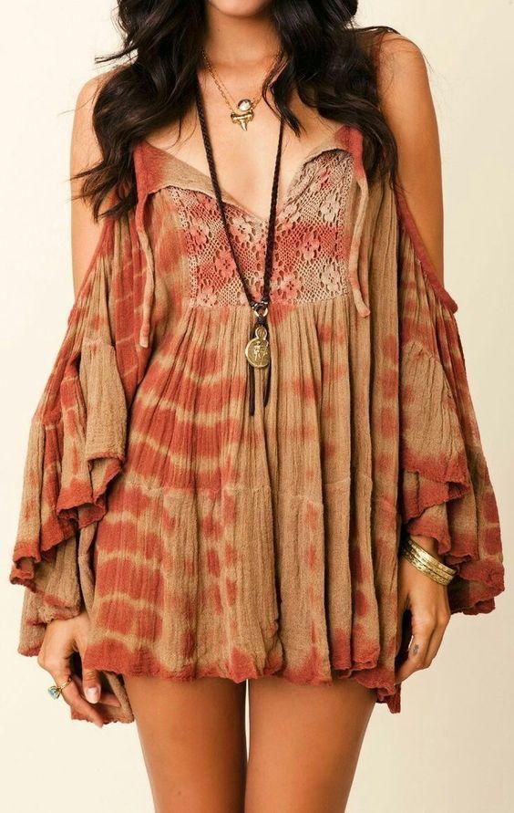 d736f1aae Estilo hippie | Mujercitas | Ropa hippie, Ropa boho y Moda estilo