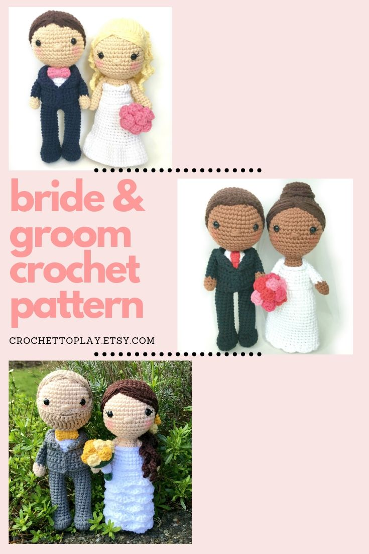 Loving Bride and Groom Wedding Dolls | Crochet dolls free patterns ... | 1102x735