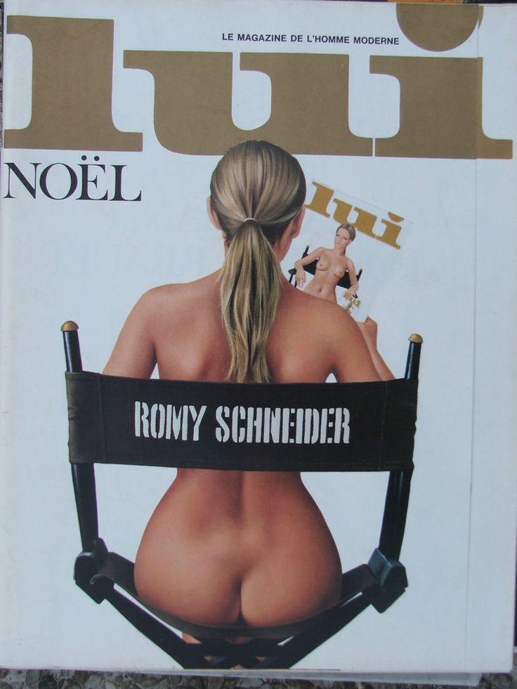 LUI N°119 (déc 1973) Romy Schneider/Aslan - Alain Peyrefitte - César - Poster