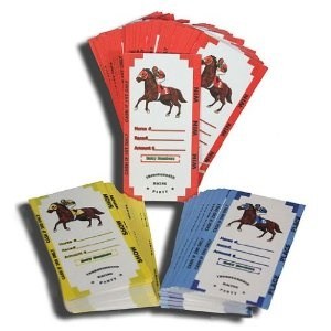 Horse betting tickets for the Derby party.