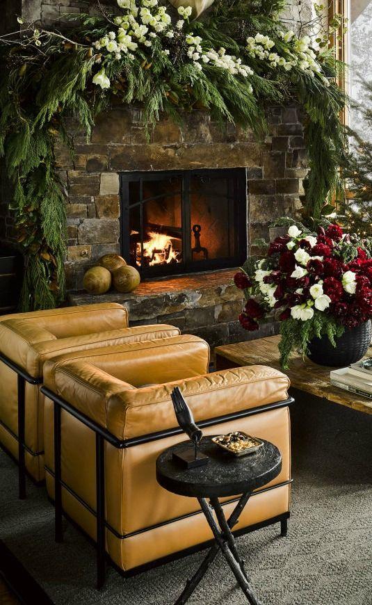 Yule style!! Noel Christmas Winter solstice!! Incredible Christmas decor!! Best Rustic Christmas Decor: Ski House by Ken Fulk