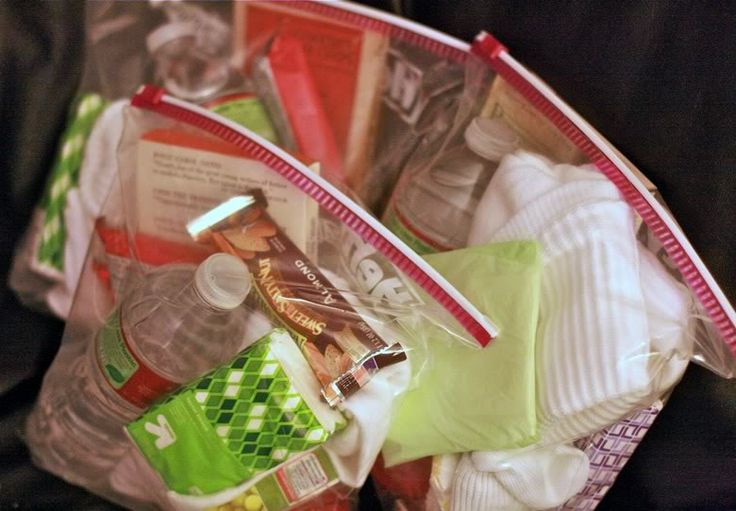 Homeless Goody Bags - as a service project.